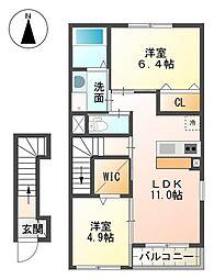 裾野市金沢 新築アパート[00205号室]の間取り