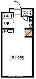 サンケイマンション第8ビル[310号室]の間取り