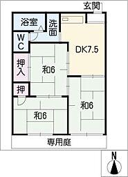 メゾン松本V[1階]の間取り