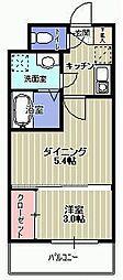 VIDA博多[6階]の間取り