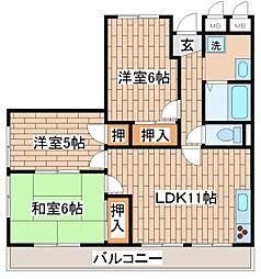 兵庫県神戸市長田区長田天神町6丁目の賃貸マンションの間取り