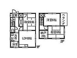 [一戸建] 広島県福山市新涯町6丁目 の賃貸【/】の間取り