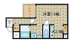 兵庫県神戸市須磨区飛松町4丁目の賃貸マンションの間取り