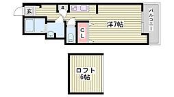 JR東海道・山陽本線 明石駅 バス8分 がんセンター前下車 徒歩2分の賃貸マンション 4階1Kの間取り