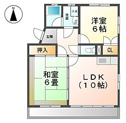 愛知県清須市西枇杷島町地領2丁目の賃貸マンションの間取り