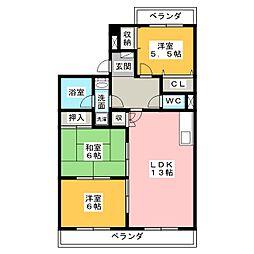 カオシンパレス[2階]の間取り