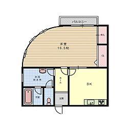 ロイヤル暁[4階]の間取り
