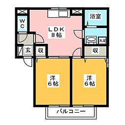 パミドールB[2階]の間取り