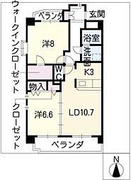 レルシール[3階]の間取り