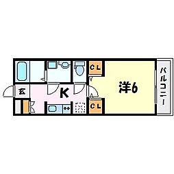 MONASO甲子園口[3階]の間取り