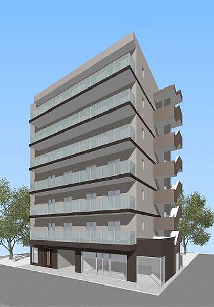 (仮称)西区平沼共同住宅[6階]の外観
