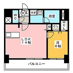 FIRST RESIDENCE SAKAE[10階]の間取り