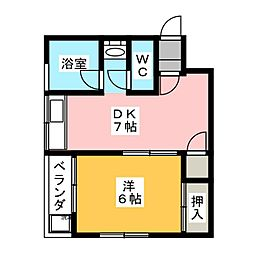 コーポ吉田[3階]の間取り