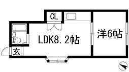 兵庫県川西市多田院1丁目の賃貸アパートの間取り