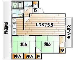 ディアスNAKAI A棟[1階]の間取り