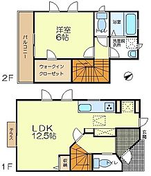 [テラスハウス] 東京都八王子市兵衛1丁目 の賃貸【東京都 / 八王子市】の間取り