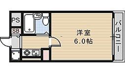 プチ鶴ヶ丘[502号室]の間取り