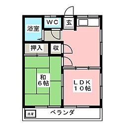 春山コーポ[2階]の間取り