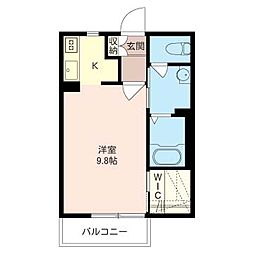 プレーナ百川No.7[1階]の間取り