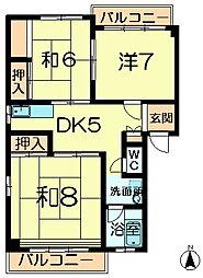 ニュー松葉マンション[3階]の間取り