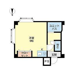 新潟県新潟市中央区旭町通の賃貸アパートの間取り