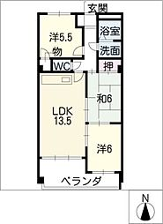 メゾン・ド・櫻[3階]の間取り