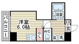 ヒューネット神戸元町通[403号室]の間取り