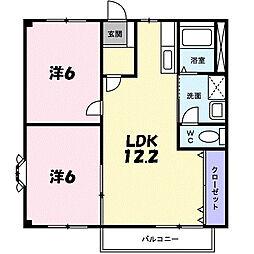 ファミール本田VI[1階]の間取り