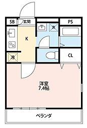 アンプルール フェール Yu Farm[103号室]の間取り