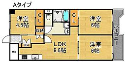 サンコーポラス南港27号棟 5階3LDKの間取り