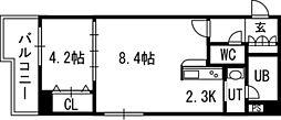 PRIME URBAN北14条[00704号室]の間取り