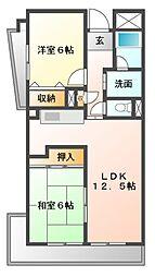 コンフォートピア・アツミ[5階]の間取り