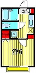 フローラ八潮[1階]の間取り