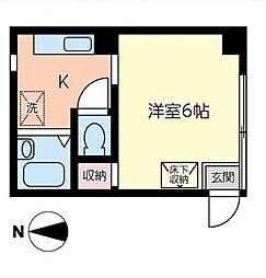 東京都足立区千住1丁目の賃貸アパートの間取り