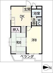 メイゾンフジミ[3階]の間取り