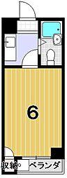 ヒューマンハイツ御室[2階]の間取り