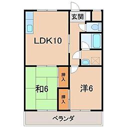 グリーンフル堀井[1階]の間取り