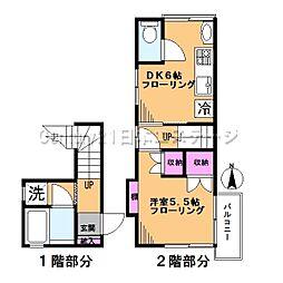 [テラスハウス] 東京都大田区北馬込1丁目 の賃貸【/】の間取り