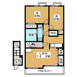 ベル・ファミーユ[2階]の間取り