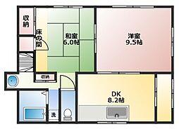 [一戸建] 神奈川県横須賀市長瀬1丁目 の賃貸【/】の間取り