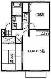 メゾン・ソレイユ A棟[103号室]の間取り