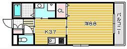 ショアフィールド[4階]の間取り