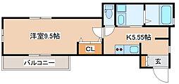 兵庫県神戸市長田区池田広町4丁目の賃貸アパートの間取り