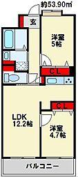 ソレアード苅田[802号室]の間取り