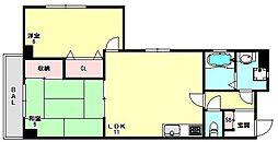 兵庫県神戸市垂水区北舞子4丁目の賃貸マンションの間取り