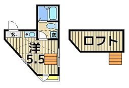 東京都葛飾区堀切2の賃貸アパートの間取り