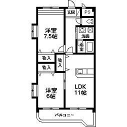 NNMマンションA[3階]の間取り