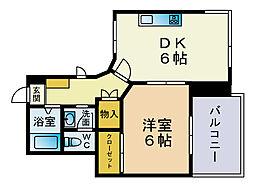 ルトゥール薬院[5階]の間取り