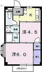 ニューエルディム金井台[2階]の間取り