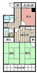 第8岡部ビル[205号室]の間取り